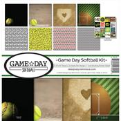 Game Day Softball 12 x 12 Reminisce Collection Kit - PRE ORDER