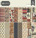 Manly 12x12 Paper Pad - Authentique