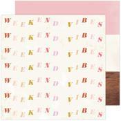 Weekend Vibes Paper - Old School - Heidi Swapp