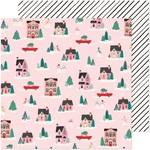 City Sidewalks Paper - Hey, Santa - Crate Paper - PRE ORDER