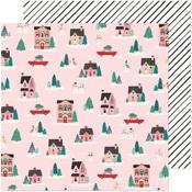 City Sidewalks Paper - Hey, Santa - Crate Paper