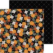 Spoooky Blooms Paper - Spoooky - Pebbles