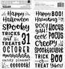 Spoooky Puffy Phrase Thickers - Pebbles