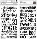 Spoooky Puffy Phrase Thickers - Pebbles - PRE ORDER