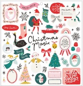 Hey, Santa 12 x 12 Chipboard Stickers - Crate Paper