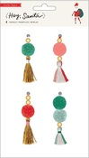 Hey, Santa Beaded Tassels - Crate Paper