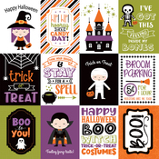 3X4 Journaling Cards Paper - I Love Halloween - Echo Park