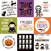 4X4 Journaling Cards Paper - I Love Halloween - Echo Park