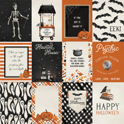 Journaling 3X4 Cards Paper - Halloween Market - Carta Bella