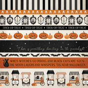 Border Strips Paper - Halloween Market - Carta Bella