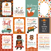 3X4 Journaling Cards Paper - Happy Fall - Echo Park