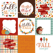 4X4 Journaling Cards Paper - Happy Fall - Echo Park