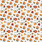 Fresh Fall Flowers Paper - Happy Fall - Echo Park