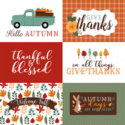 6X4 Journaling Cards Paper - Happy Fall - Echo Park