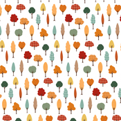 Fall Forest Paper - Happy Fall - Echo Park