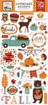 Happy Fall 6x13 Chipboard Accents - Echo Park