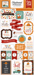 Happy Fall 6x13 Chipboard Phrases - Echo Park - PRE ORDER