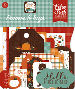 Happy Fall Frames & Tags Ephemera - Echo Park - PRE ORDER