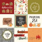 4X4 Journaling Cards Paper - Hello Autumn - Carta Bella