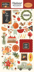 Hello Autumn 6x13 Chipboard Accents - Carta Bella