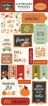 Hello Autumn 6x13 Chipboard Phrases - Carta Bella