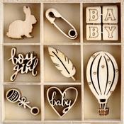 Little Treasures Wood Mini Themed Embellishments - Kaisercraft