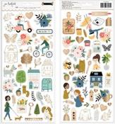 The Avenue 6 x 12 Sticker Sheet - Pebbles - PRE ORDER