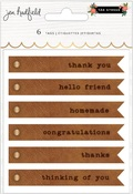 Embossed Faux Leather Tags - The Avenue - Pebbles - PRE ORDER