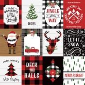 3X4 Journaling Cards Paper - A Lumberjack Christmas - Echo Park