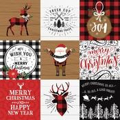 4X4 Journaling Cards Paper - A Lumberjack Christmas - Echo Park