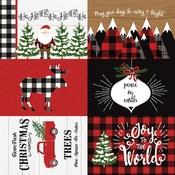 4X6 Journaling Cards Paper - A Lumberjack Christmas - Echo Park