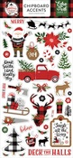 A Lumberjack Christmas 6x13 Chipboard Accents - Echo Park