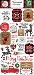 A Lumberjack Christmas 6x13 Chipboard Phrases -  Echo Park
