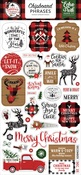 A Lumberjack Christmas 6x13 Chipboard Phrases -  Echo Park