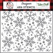 Jingle Bell Snowflakes Stencil - A Lumberjack Christmas - Echo Park - PRE ORDER