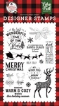 Warm and Cozy Wishes Stamp Set - A Lumberjack Christmas - Echo Park