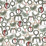 Noel Wreaths Paper - Farmhouse Christmas - Carta Bella - PRE ORDER