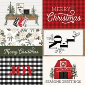 Journaling 4X6 Cards Paper - Farmhouse Christmas - Carta Bella