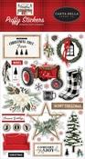 Farmhouse Christmas Puffy Stickers - Carta Bella - PRE ORDER