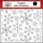 Merry Snowflakes Stencil - Farmhouse Christmas - Carta Bella - PRE ORDER