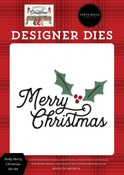 Holly Merry Christmas Die Set - Farmhouse Christmas - Carta Bella