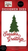 Season's Greetings Tree Die Set - Farmhouse Christmas - Carta Bella