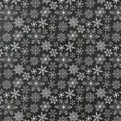 Snowflakes Paper - A Gingerbread Christmas - Echo Park