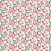 Candy Toss Paper - A Gingerbread Christmas - Echo Park - PRE ORDER