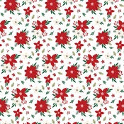 Poinsettia Paper - A Gingerbread Christmas - Echo Park