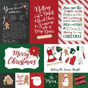 4X6 Journaling Cards Paper - A Gingerbread Christmas - Echo Park - PRE ORDER