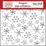 Magical Snowflakes Stencil - A Gingerbread Christmas - Echo Park