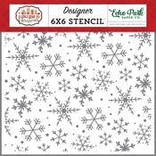 Magical Snowflakes Stencil - A Gingerbread Christmas - Echo Park - PRE ORDER