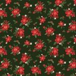 Poinsettia Floral Paper - Hello Christmas - Carta Bella - PRE ORDER