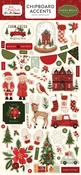 Hello Christmas 6x13 Chipboard Accents - Carta Bella